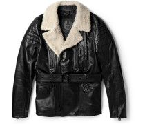 Falmouth Shearling-trimmed Leather Jacket