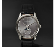 Master Ultra Thin Moon 39mm White Gold And Alligator Watch