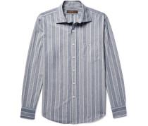Hopkins Jacquard Cotton-chambray Shirt