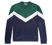 Shell-panelled Jersey Sweatshirt