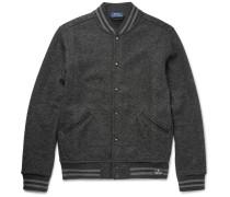 Herringbone Woven Bomber Jacket