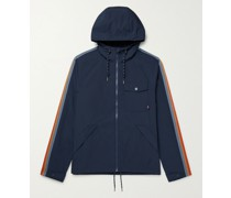 All Conditions Webbing-Trimmed Recycled Shell Hooded Jacket
