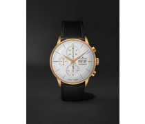 Meister Chronoscope Automatic 41mm PVD-Coated Stainless Steel and Leather Watch, Ref. No. 027/7023.01