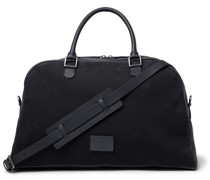 Full-Grain Leather and Nubuck Holdall