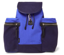 Nylon, Canvas And Leather Backpack