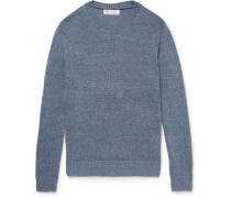 Mélange Linen And Cotton-blend Sweater