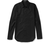 Slim-fit Harness-detailed Cotton-poplin Shirt
