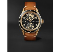 1858 Geosphere Limited Edition Automatic GMT 42mm Bronze, Ceramic and Leather Watch, Ref. No. 119347