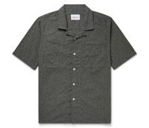 Camp-Collar Printed Cotton-Poplin Shirt