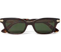 Square-frame Tortoiseshell Acetate And Gold-tone Sunglasses