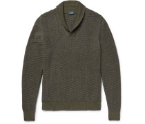 Shawl-collar Virgin Wool And Alpaca-blend Sweater