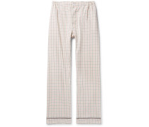 Marcel Piped Checked Cotton Pyjama Trousers