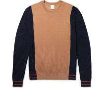 Colour-block Merino Wool And Silk-blend Sweater