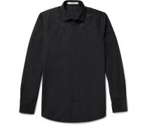 Slim-fit Star-embroidered Cotton-poplin Shirt