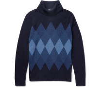Argyle Wool-blend Rollneck Sweater