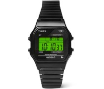 T80 34mm Stainless Steel Digital Watch