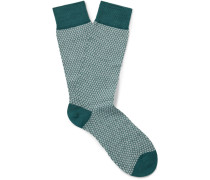 Dalby Patterned Cotton-blend Lisle Socks