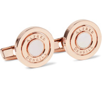 Gyro Rose Gold-plated Mother-of-pearl Cufflinks