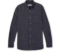 Benoit Button-down Collar Cotton-corduroy Shirt