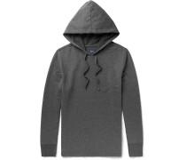 Mélange Brushed Cotton-blend Jersey Hoodie