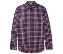 Slim-fit Checked Cotton-poplin Shirt