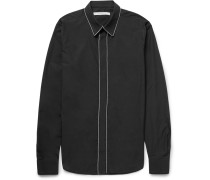 Slim-fit Chain-trimmed Cotton-poplin Shirt