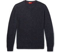 Elbow-patch Mélange Cashmere Sweater