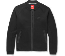 Cotton-blend Tech Fleece Varsity Jacket