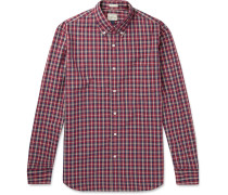 Cooper Checked Washed-cotton Shirt