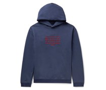Oversized Logo-Embroidered Loopback Cotton-Jersey Hoodie