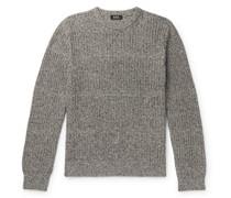Steve Ribbed Mélange Cotton and Linen-Blend Sweater