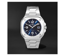 BR 05 Blue Steel Automatic 40mm Stainless Steel Watch, Ref. No. BR05A-BLU-ST/SST