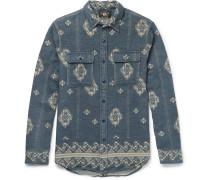 Matlock Brushed-cotton Jacquard Shirt