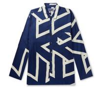 Indigo-Dyed Lyocell Shirt