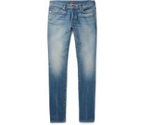 Slim-fit Washed Denim Jeans