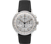 Meister Telemeter Chronoscope 40mm Stainless Steel And Leather Watch