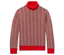 Jacquard Wool-blend Rollneck Sweater