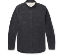 Isherwood Button-down Collar Cotton-flannel Shirt