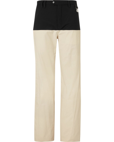 Wool Twill-Panelled Cotton Trousers