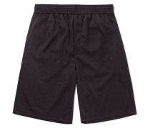 Wide-leg Washed-voile Shorts