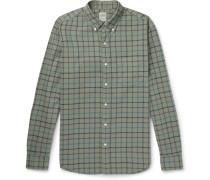Aiden Slim-fit Button-down Collar Checked Cotton Oxford Shirt