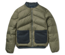 Reversible Quilted Shell Down Bomber Jacket