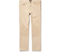 Slim-fit Cotton-blend Trousers