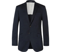 Navy Seishin Slim-fit Stretch-cotton Suit Jacket