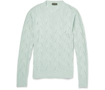 Slim-Fit Knitted Silk Sweater