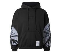 Logo-Print Tie-Dyed Fleece-Back Cotton-Jersey Hoodie