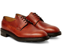 Croft Panelled-leather Derby Shoes