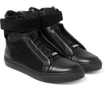 James Suede And Leather High-top Sneakers