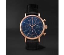 Portofino Automatic Chronograph 42mm 18-Karat Red Gold and Alligator Watch, Ref. No. IW391035