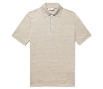 Mélange Linen and Cotton-Blend Polo Shirt